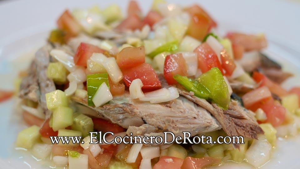 Caballa con Picadillo - El Cocinero de Rota