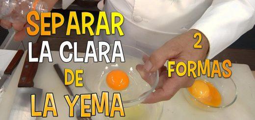 Como separar la clara de la yema